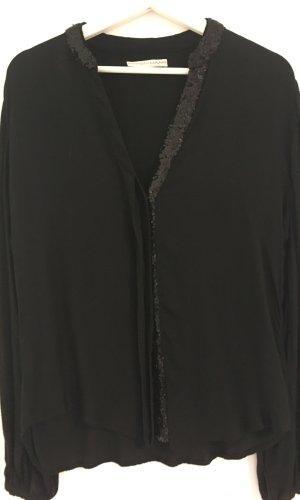 Langarm-Bluse mit Pailetten