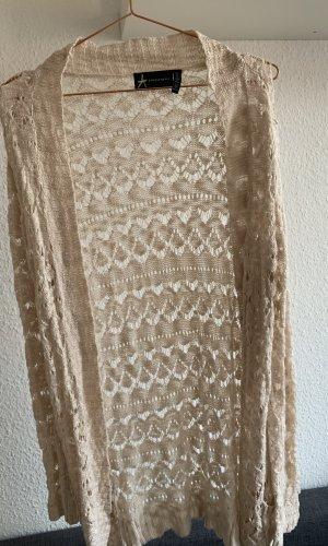 lange Strickjacke, rosa, Größe 36