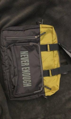 Yellow cab Laptoptas grijs-neongeel Nylon