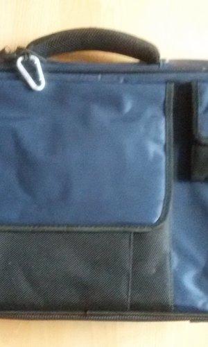 Laptoptas zwart-blauw