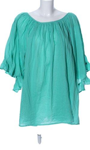 Lara Ethnics Oversized blouse turkoois casual uitstraling
