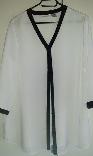 Laura Kent Lange blouse wit-zwart