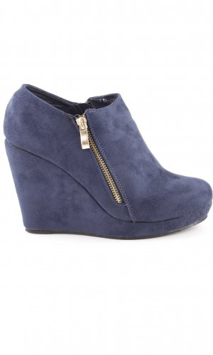 Plateauzool pumps blauw casual uitstraling