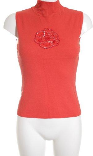 Laurèl Feinstrickpullunder rot schlichter Stil