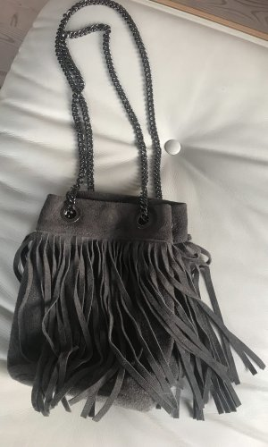 Fringed Bag grey