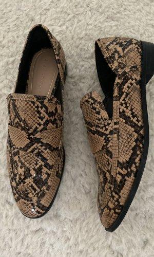 Zara Trafaluc Moccasins black-light brown leather