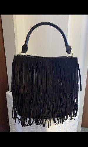 Fringed Bag black brown