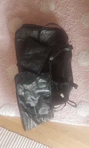 Bolso de viaje negro Imitación de cuero
