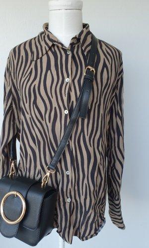 Leicht fliessende Zara Animalprint-Bluse Gr.L