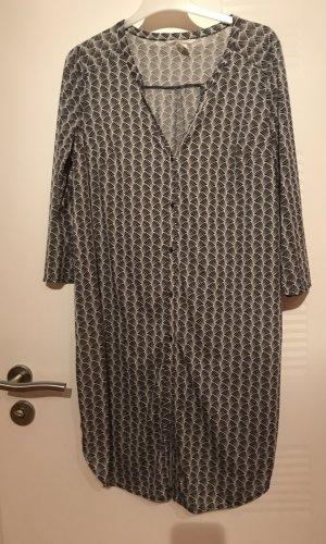 H&M Lange blouse zwart-wit Polyester