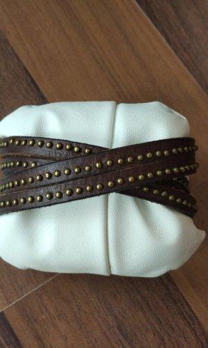 Liebeskind Brazalete de cuero marrón oscuro-marrón-negro
