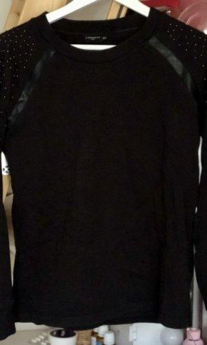 Liebeskind Suéter negro-color oro Algodón