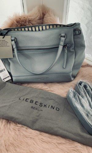 Liebeskind Handbag light blue-azure leather