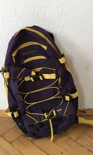 Forvert Sac à dos pour ordinateur portable violet foncé-jaune fluo