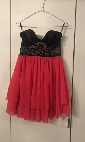 Lipsy Robe ballon noir-rose