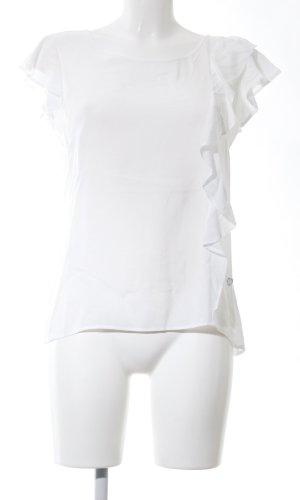 Lisa Campione Kurzarm-Bluse weiß Casual-Look