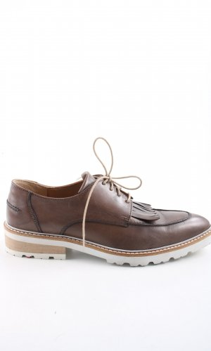 Lloyd Zapatos estilo Richelieu marrón estilo «business»