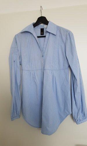 Best Connections Lange blouse wit-blauw