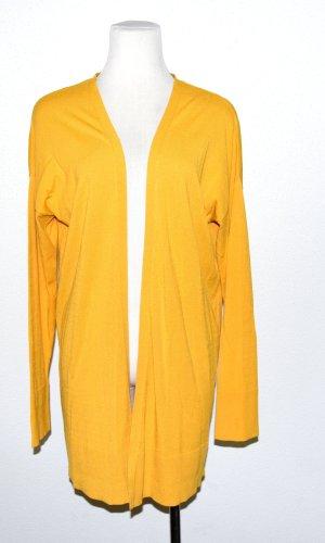Comma Chaleco de punto largo amarillo oscuro Viscosa