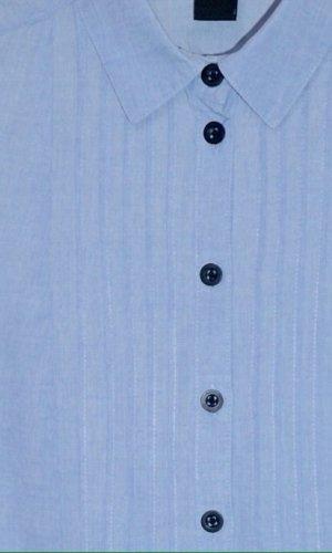 Longbluse mit Biesen in hellblau