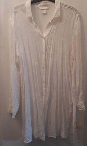 H&M Lange blouse wolwit