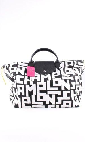 Longchamp Comprador negro-blanco letras impresas look casual