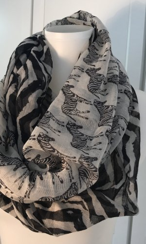 Écharpe ronde noir-blanc