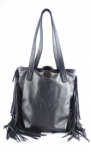 Loubs Fringed Bag black street-fashion look