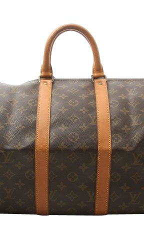 Louis Vuitton Luggage brown textile fiber