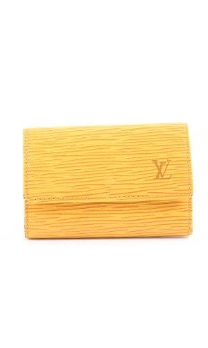 Louis Vuitton Schlüsseletui blassgelb Allover-Druck Business-Look
