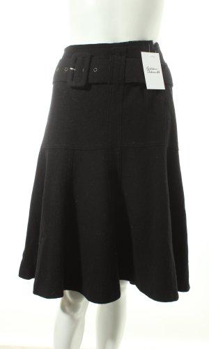 Luisa Cerano Wollen rok zwart zakelijke stijl