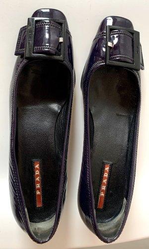 Prada Zapatos estilo Richelieu violeta oscuro