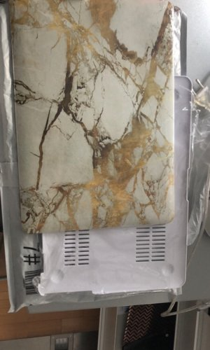 Laptoptas brons-wit