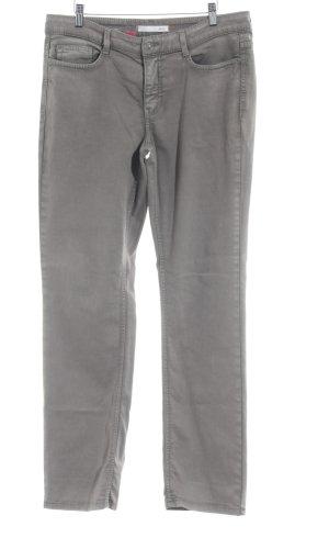 Mac Pantalón elástico marrón grisáceo tejido mezclado