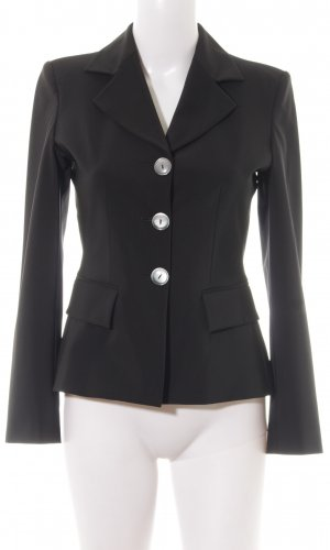 Made in Italy Kurz-Blazer schwarz Business-Look