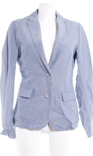 Maison Scotch Kurz-Blazer himmelblau meliert Business-Look