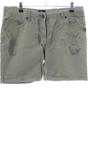 Maison Scotch Shorts khaki Motivdruck Casual-Look