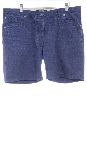 Maison Scotch Shorts blau Punktemuster Casual-Look