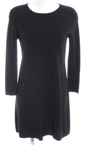 Maliparmi Sweaterjurk zwart casual uitstraling