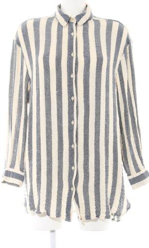 Mango casual Lange blouse room-lichtgrijs gestreept patroon casual uitstraling