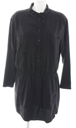 Mango Robe chemise noir style décontracté