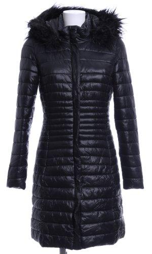Manguun Lange Jacke schwarz Steppmuster Casual-Look
