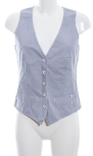 Marc O'Polo Herenvest wit-blauw gestreept patroon zakelijke stijl