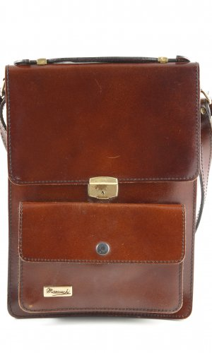 Crossbody bag brown business style