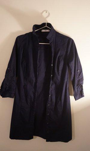 Mango Robe chemise bleu foncé coton