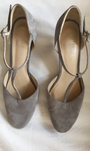 Jb martin Escarpins Mary Jane gris clair-taupe