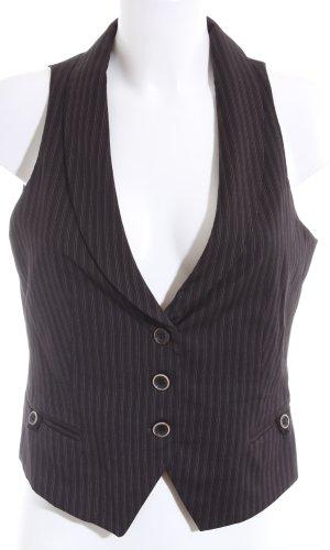 Massimo Dutti Herenvest zwart gestreept patroon zakelijke stijl