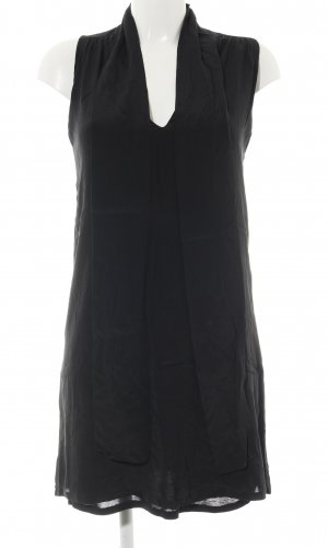 Massimo Dutti Blusenkleid schwarz Casual-Look