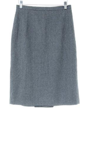 Max Mara Wollen rok lichtgrijs-wit volledige print zakelijke stijl