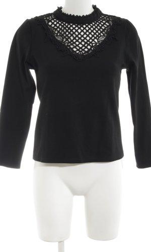 MAY Gehaakt shirt zwart elegant